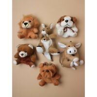 Soft Animal Plush Purse Teddy, Lion, Kangaroo,Donkey,Puppy,Dog 12CM X 10CM vary