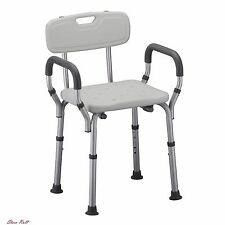 Nova Shower Chair Bath Medical Seat with Arms Back for Seniors Handicap Aid NEW