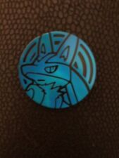 POKEMON Trading Card Game Coins - Lucario Blue Coin - Official - Unplayed