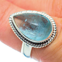Aquamarine 925 Sterling Silver Ring Size 6.5 Ana Co Jewelry R36394F