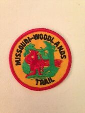 Missouri Woodlands Trail patch 3 inch diameter patch red border gauze back Mint!