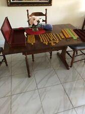 Mah Jong set butterscotch tiles, case and racks ,many extra tiles