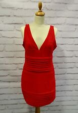 Misguided red bodycon dress size 14