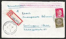 German Reich covers 1942 R-cover Deutsche Dienstpost Niederlande to Solingen