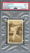 1932 Monopol Sportphotos Card #130 HENRI COCHET Tennis HOF 1924 Olympics PSA 5.5