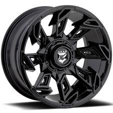 "4-Gear 752B Slayer 20x10 6x135/6x5.5"" -25mm Gloss Black Wheels Rims 20"" Inch"