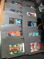 Lot of 10 Nintendo NES games Dragon Warrior Spy Hunter ,bases Loaded,tiger Heli