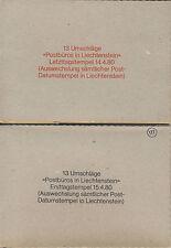 Liechtenstein Échange De Timbre 14. 04. 80 / 15. 04. 80 (623238)