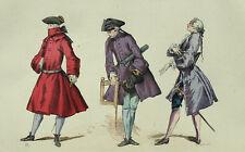 Costume Moda Habit Bourgeois Redingote Fashion - Incisione originale 19esimo