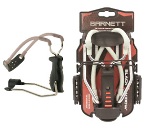 Barnett Black Widow LATEST MODEL Slingshot Catapult free  sample .38 steel ammo