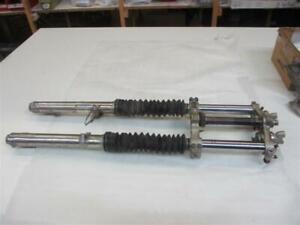 SUZUKI DR 500 S Bj 83 Gabel komplett mit oberer unterer Gabelbrücke 36 mm Standr