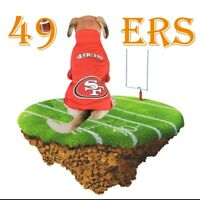 Pet Dog 49ers Jersey American Football Team Clothing Puppy Vest Cosplay Costume