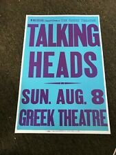 The Talking Heads 1982 Greek Theater Los Angeles Concert Cardstock Poster 12x18