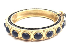 House of Harlow Round Blue Cabochon Side Studded Bangle 0291