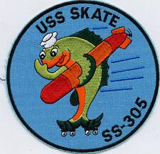 USS Skate SS 305 -  Fish w/ Torpedo Thumbing Nose 5 inch Fully Emb B774 $8.50