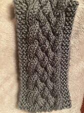 Handmade Knitted Ear Warmer (Grey)