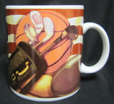 16 oz Russ American Sports Coffee Mug Football Basketball Golf Baseball Trophy