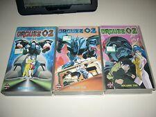 VHS ORGUSS 02 1,2,3 COMPLETO ANIME INEDITO DVD MANGA  DYNAMIC OAV OVA HENTAI