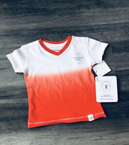 Burts Bees Infant Boys Orange T-Shirt 3-6 Months NWT Organic Cotton
