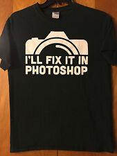 I'll Fix It In Photoshop- Black T-Shirt- Medium