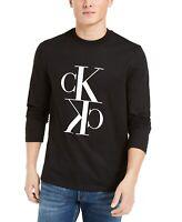 Calvin Klein Jeans Mens T-Shirt Black Size 2XL Logo Crewneck Graphic Tee $49 384