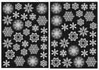 60 Snowflake Window Clings Frozen Party Winter Wonderland - Reusable Decorations
