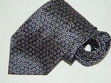 Men's Altea Floral Blue 100%Silk Neck tie Made in Italy