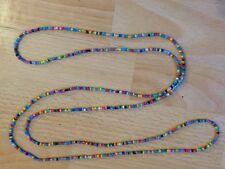 "Rainbow Seme Perline Lungo 58"" Collana Bracciale Hippie Love Spiaggia Festival Boho"