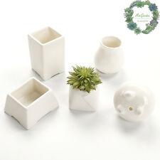 Clearance!!!Small Succulent & Cacti Pot// White Porcelain Pot// 2 for $8