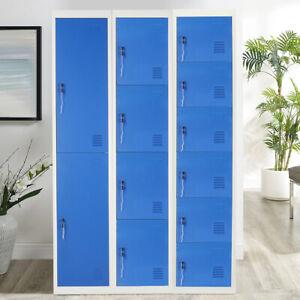 Work Lockers 2/4/6 Door Metal Lockable Unit Staff School Gym Changing Box Office