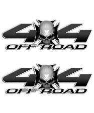 Skull Truck Sticker - 4x4 Maltese Cross Decal for Ford Carbon Fiber Graphic