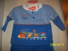 NEW FISHER PRICE SAFARI FRIENDS 2PC OUTFIT BABY BLUE