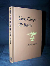 These Things We Believe, 1959, J. Clyde Turner, Wake Forest, Baptist, Teaching