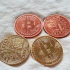1 once Pièce de bits Bitcoins Bit monnaie 999 Cuivre/argenté et avec 999 Or doré