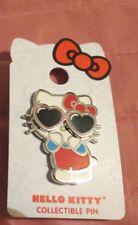 New Hello Kitty Wearing Heart Sunglasses 3D Pin