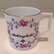 Hochst J.W. von Goethe Hand-Painted Porcelain Cup #4 Made in Germany New