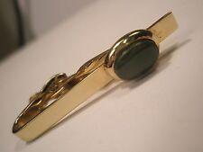 Jade Green Stone Vintage Tie Bar Clip gift