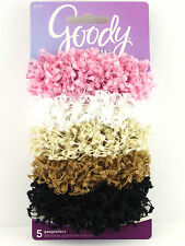 GOODY CHENILLE & COTTON OUCHLESS HAIR SCRUNCHIES - 5 PCS.  (30288)