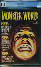 MONSTER WORLD 5 CGC 8.5 OWWP NICE 1965