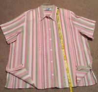 Alfred Dunner Women's blouse top short sleeve Button Down Shirt Plase size 22W