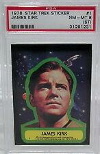 1976 TOPPS Star Trek Sticker #1 PSA 8 NM-MT