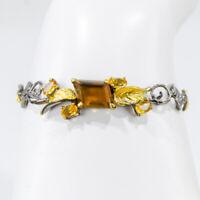 Jewelry For Women 5ct Natural Cognac Quartz 925 Sterling Silver Bracelet/BR01035