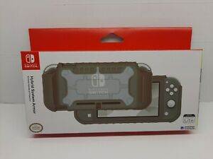 Nintendo Switch Lite, Hybrid System Armor, Protective Case Cover, Grey/Clear