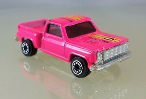 """Unbranded Chevy Stepside Pickup Truck Pink """"Race Team 9"""" China - 1/64 Scale"""