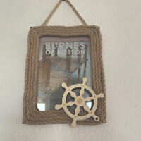 5 x 7 Frame Burnes of Boston Wood Frame With Nautical Theme