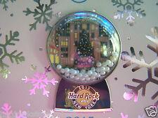 2015 HARD ROCK CAFE NEW YORK HOLIDAY SNOWGLOBE/ROCKEFELLER CENTER SERIES PIN