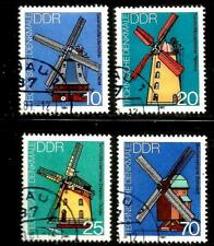 GERMANY GDR DDR – 1981 – WINDMILLS – Sc #2227-2230 – SET OF 4 – USED/CTO