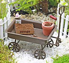 Wagon Rusty Fairy Garden Miniature Seed Tray Flower Pot Handmade by Jennifer