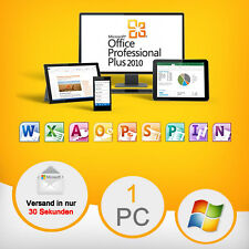 MS Microsoft Office 2010 Professional Plus • Vollversion • Original • Business