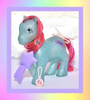 ❤️My Little Pony MLP G1 Vtg Sparkle Ponies Sky Rocket & Original Brush, Ribbon❤️